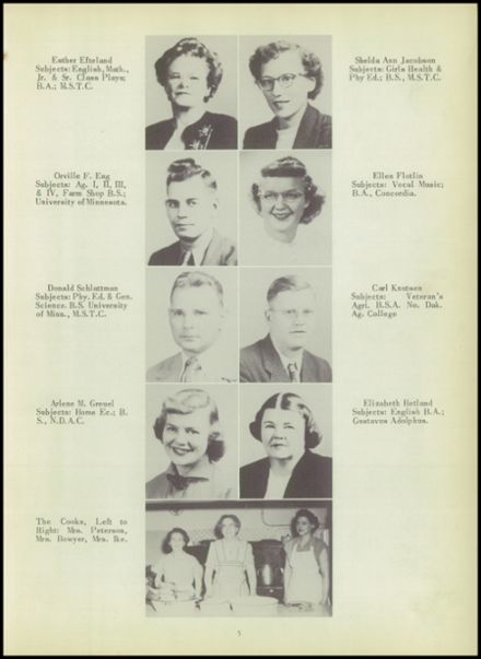 1952 Ada High School Yearbook Page 9