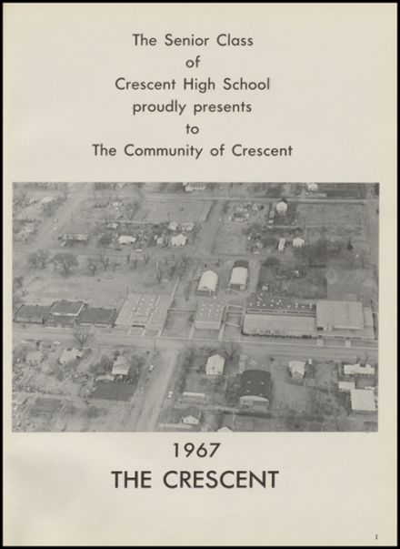 1967 Crescent High School Yearbook Page 5