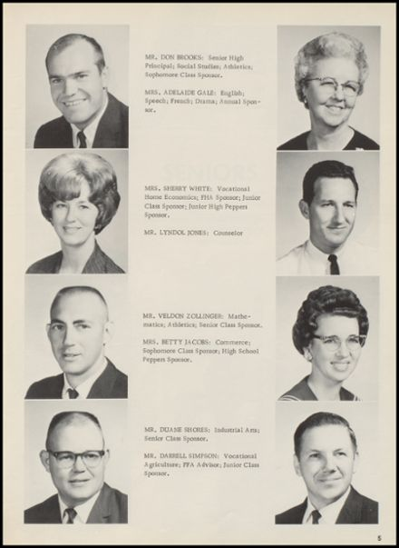 1967 Crescent High School Yearbook Page 9