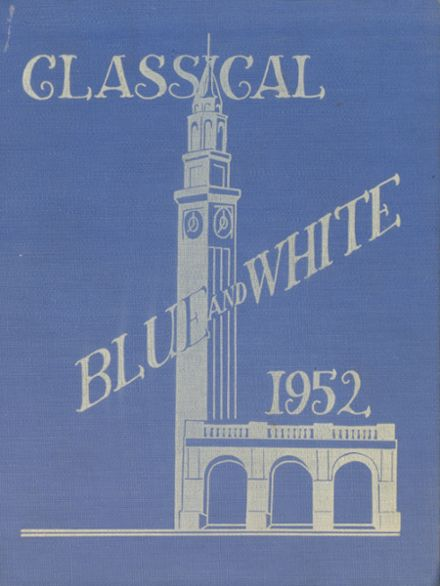 1952 Classical High School Yearbook Cover