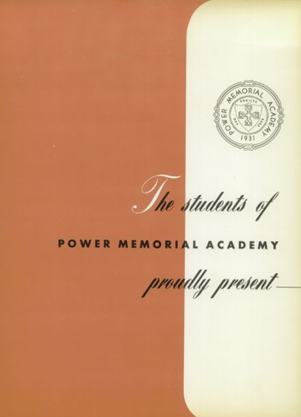 1957 Power Memorial Academy Yearbook Page 5