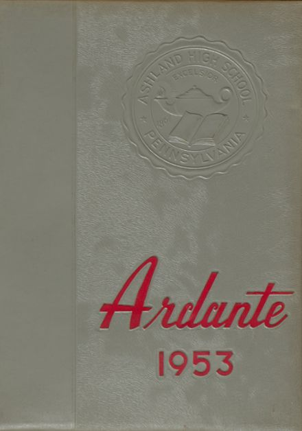 1953 Ashland High School Yearbook Cover