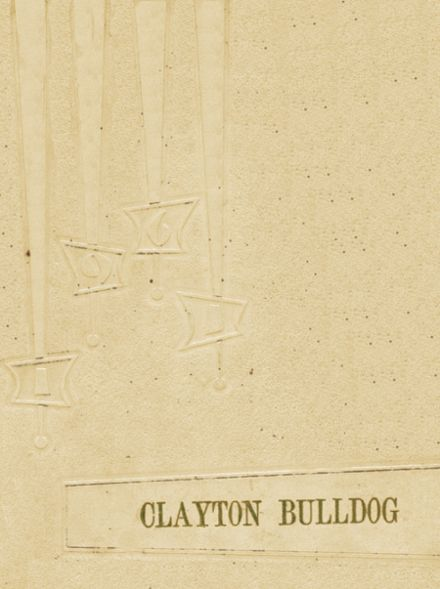 1961 Clayton High School Yearbook Cover