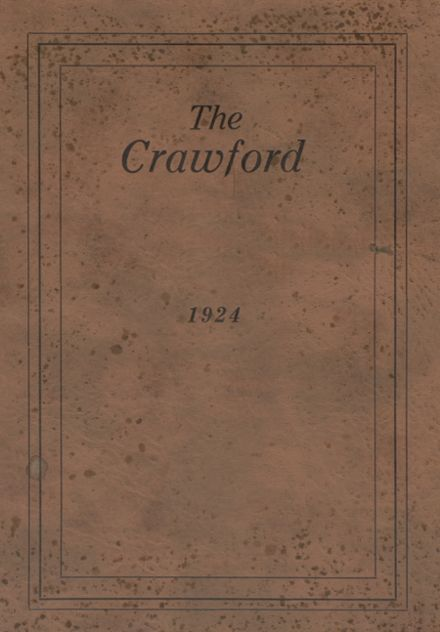 1924 Crawford County Community High School Yearbook Cover