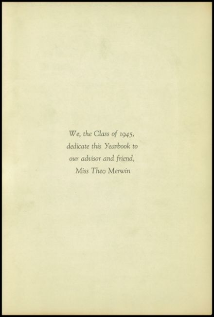 1945 New Milford High School Yearbook Page 5