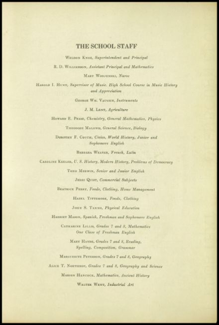 1945 New Milford High School Yearbook Page 7