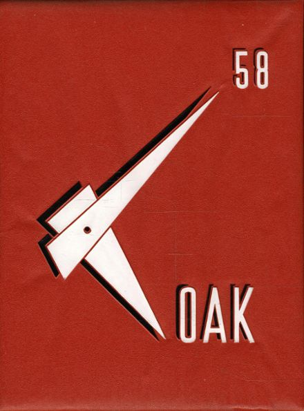 1958 Mt. Whitney High School Yearbook Cover