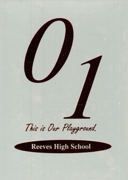 2001 Reeves High School Yearbook Cover