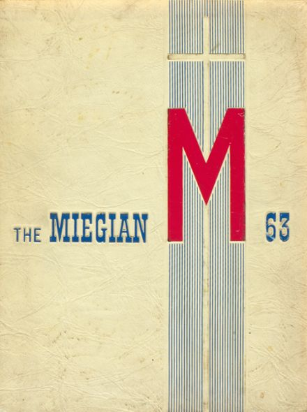 1963 Bishop Miege High School Yearbook Cover