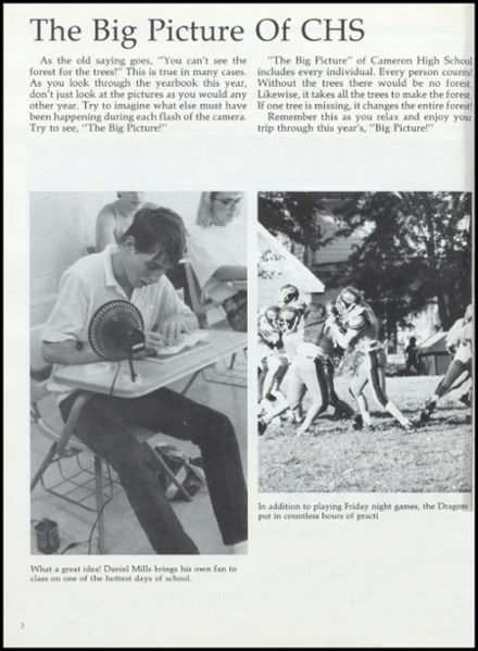 1991 Cameron High School Yearbook Page 6
