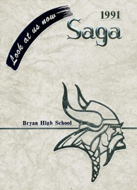 1991 Bryan High School Yearbook Cover
