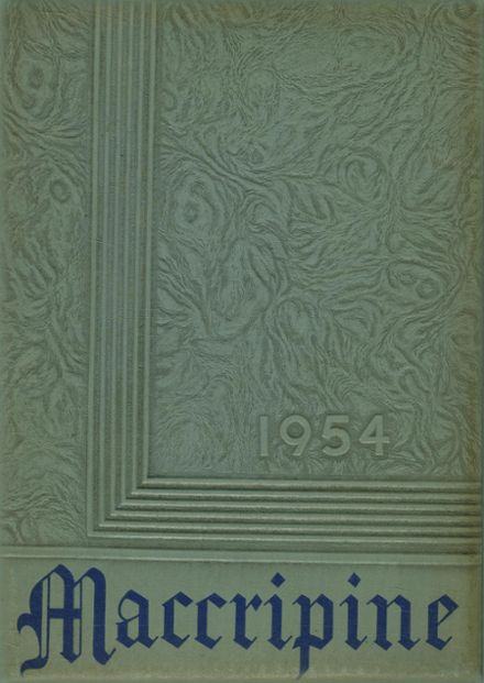1954 South Edgecombe High School Yearbook Cover