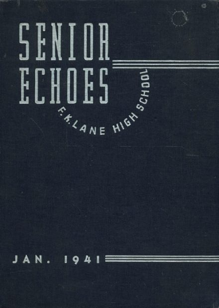 1941 Franklin K. Lane High School Yearbook Cover