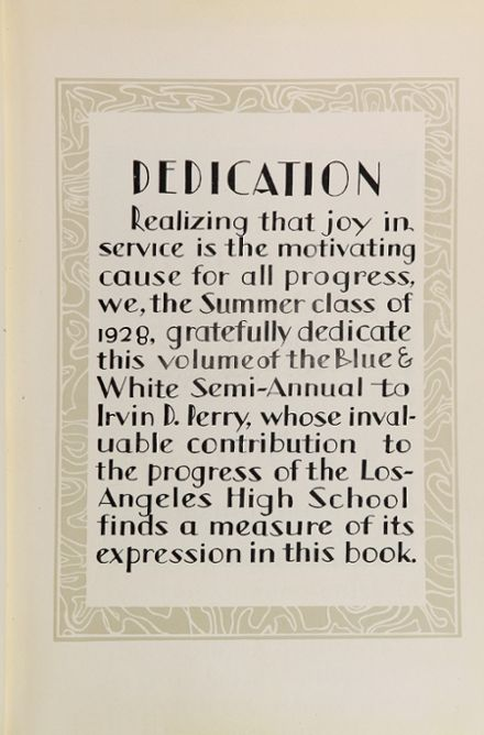 1928 Los Angeles High School Yearbook Page 7