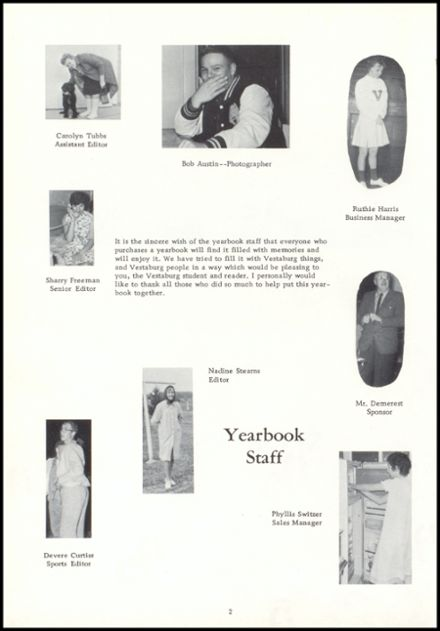 1962 Vestaburg High School Yearbook Page 6