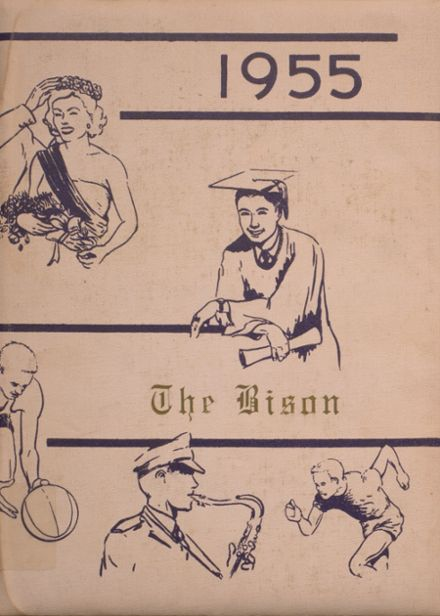 1955 Cross Plains High School Yearbook Cover