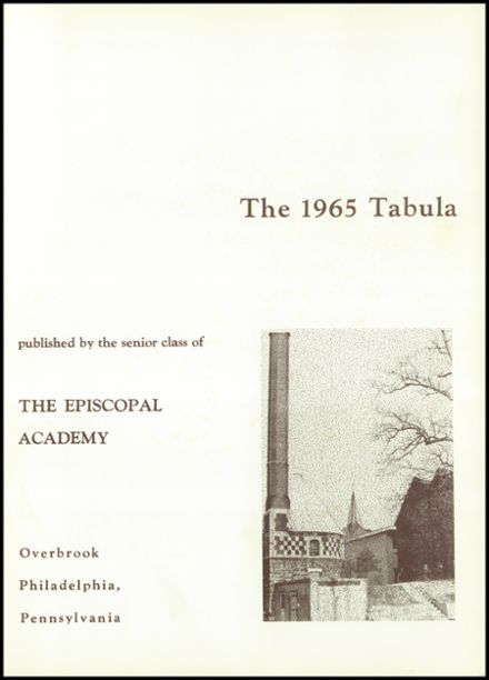 1965 Episcopal Academy Yearbook Page 5