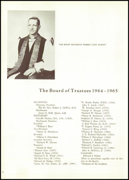 1965 Episcopal Academy Yearbook Page 6