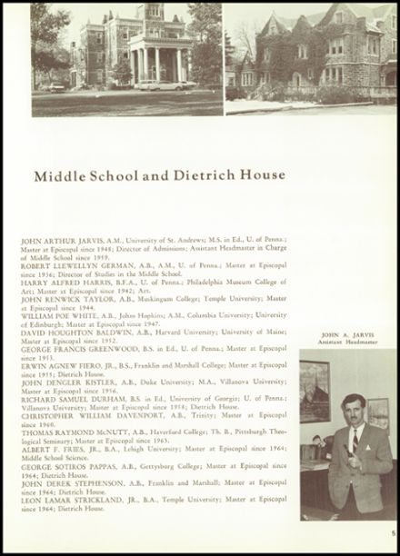 1965 Episcopal Academy Yearbook Page 9