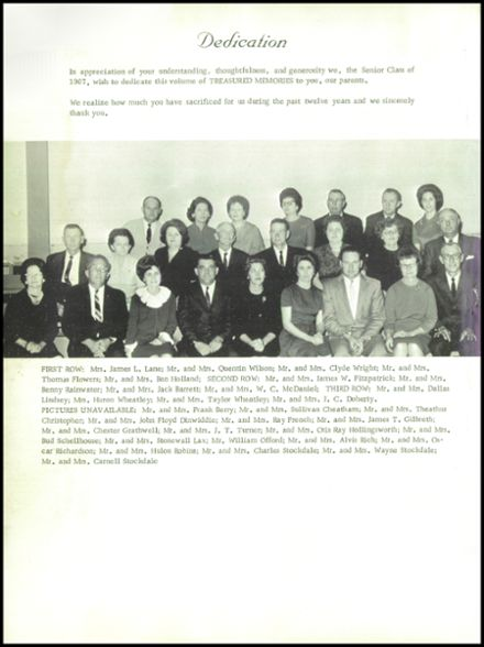 1967 Big Sandy High School Yearbook Page 6
