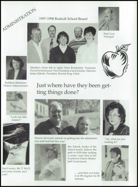 1998 Rosholt High School Yearbook Page 9
