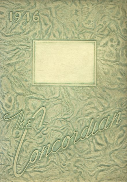 1946 Concord High School Yearbook Cover