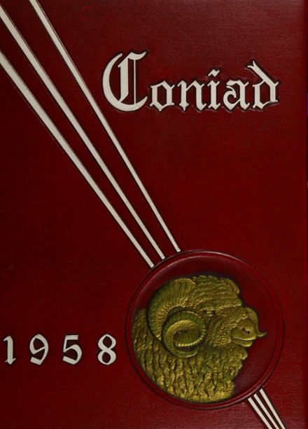1958 Cony High School Yearbook Cover