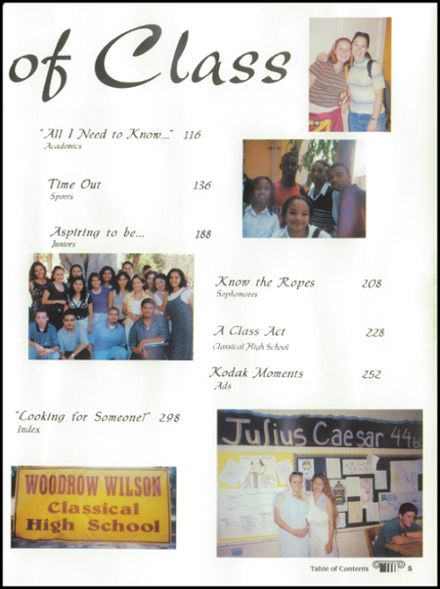 1998 Woodrow Wilson High School Yearbook Page 9