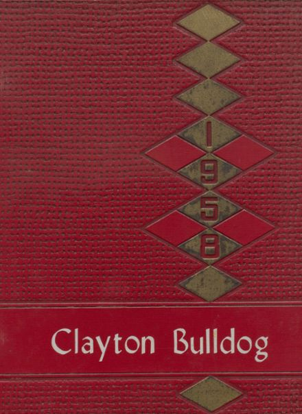 1958 Clayton High School Yearbook Cover