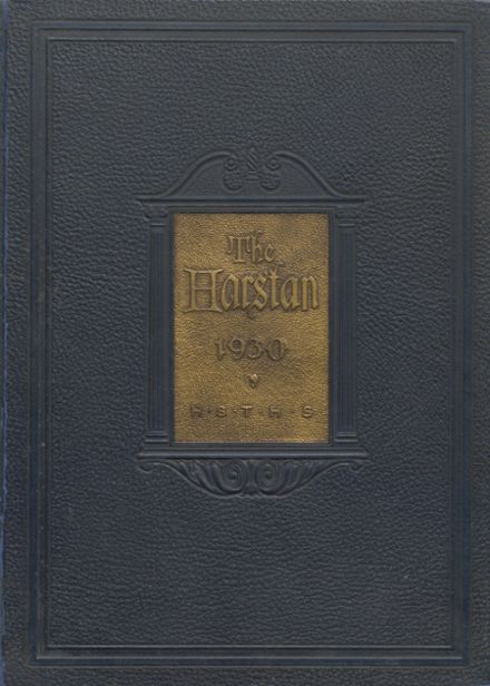 1930 Harter Stanford Township High School Yearbook Cover
