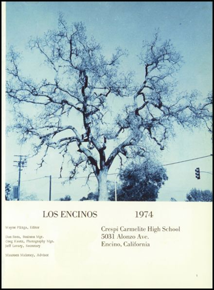 1974 Crespi Carmelite High School Yearbook Page 5
