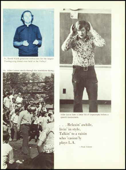 1974 Crespi Carmelite High School Yearbook Page 9