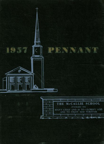 1957 McCallie High School Yearbook Cover
