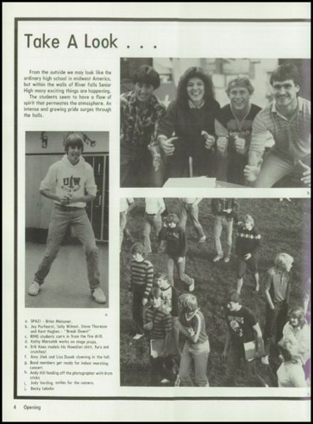 1984 River Falls High School Yearbook Page 8
