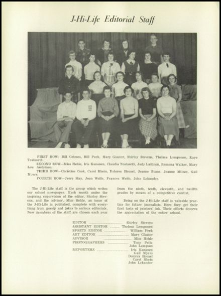 1954 Jefferson Area High School Yearbook Page 8