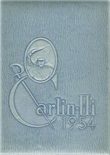 1954 Carlinville High School Yearbook Cover