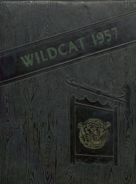 1957 Cunningham High School Yearbook Cover