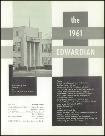 1961 St. Edward High School Yearbook Page 5