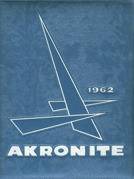 1962 Akron High School Yearbook Cover