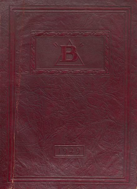 1929 Brodhead High School Yearbook Cover