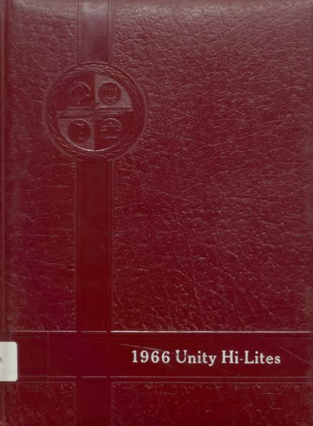 1966 Unity High School Yearbook Cover
