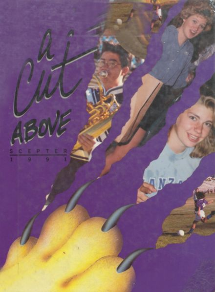 1991 Manzano High School Yearbook Cover