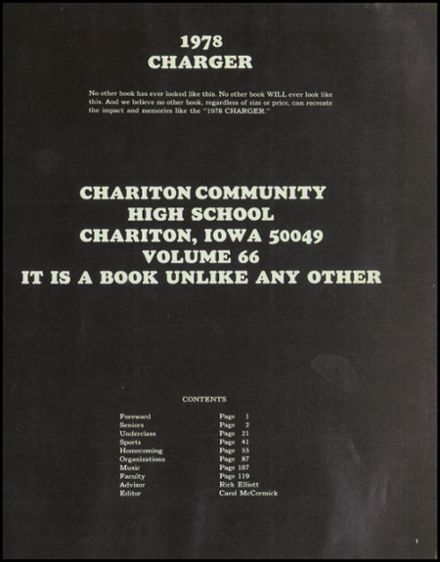 1978 Chariton High School Yearbook Page 5