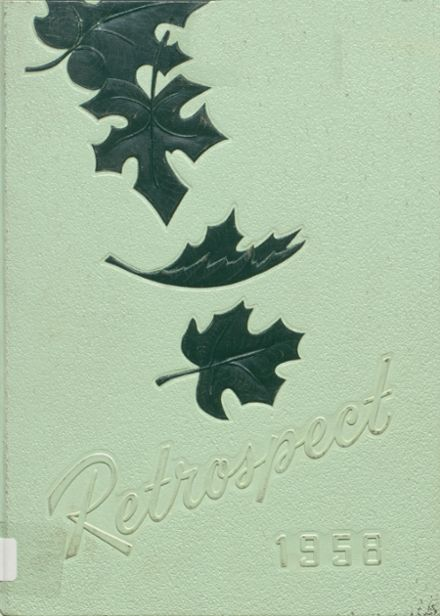 1958 Blume High School Yearbook Cover