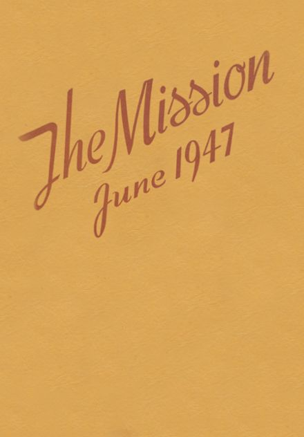 1947 Mission High School Yearbook Cover