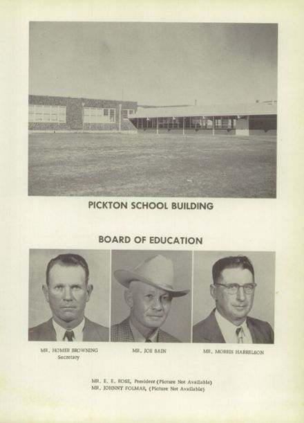 1959 Pickton High School Yearbook Page 7