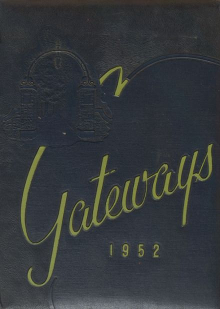 1952 Bedford High School Yearbook Cover