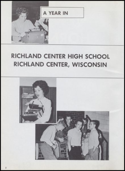 1961 Richland Center High School Yearbook Page 6