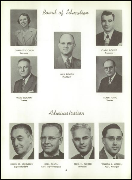 1953 Bentley High School Yearbook Page 8