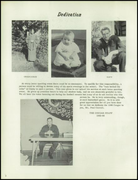 1966 Canby Union High School Yearbook Page 6